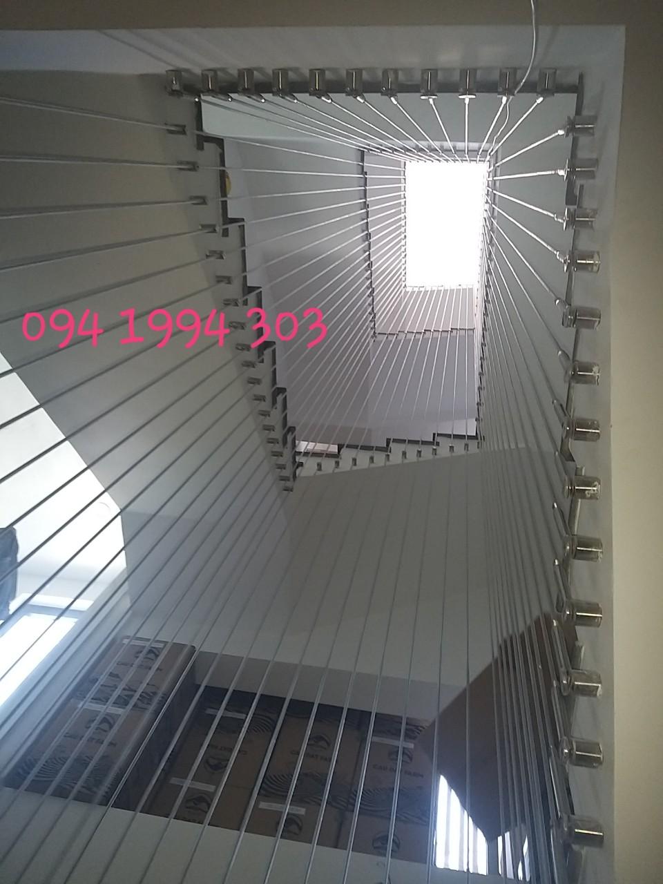 cầu thang dây cáp chung cư, nhà cao tầng
